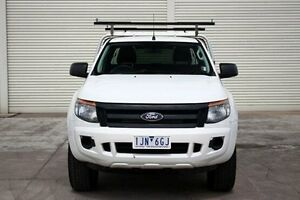 2012 Ford Ranger PX XL Super Cab White 6 Speed Manual Cab Chassis Seaford Frankston Area Preview