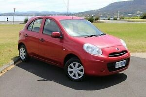 2014 Nissan Micra K13 Series 4 MY15 ST Red 4 Speed Automatic Hatchback Invermay Launceston Area Preview