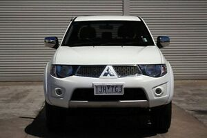 2012 Mitsubishi Triton MN MY12 GLX-R Double Cab White 5 Speed Sports Automatic Utility Seaford Frankston Area Preview