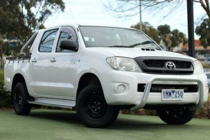 2009 Toyota Hilux KUN16R MY09 SR White 5 Speed Manual Utility
