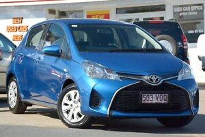 2015 Toyota Yaris NCP130R Ascent Blue Metallic 4 Speed Automatic Hatchback Woolloongabba Brisbane South West Preview