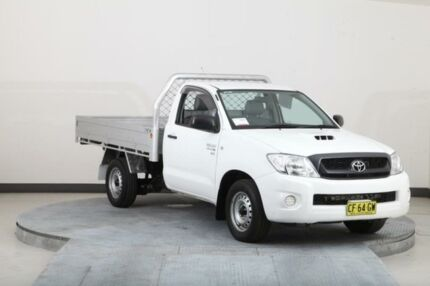 2011 Toyota Hilux KUN16R MY11 Upgrade SR White 5 Speed Manual Cab Chassis Smithfield Parramatta Area Preview