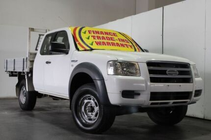 2008 Ford Ranger PJ 07 Upgrade XL (4x4) White 5 Speed Manual Super C/Chas