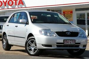 2002 Toyota Corolla ZZE122R Ascent Silver 4 Speed Automatic Hatchback Woolloongabba Brisbane South West Preview