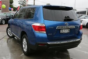 2013 Toyota Kluger GSU40R MY12 KX-R 2WD Blue 5 Speed Sports Automatic Wagon Waitara Hornsby Area Preview