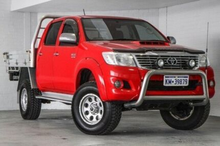 2013 Toyota Hilux KUN26R MY14 SR5 Double Cab Red 5 Speed Automatic Utility