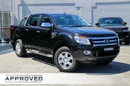 2015 Ford Ranger PX XLT Double Cab Black 6 Speed Manual Utility