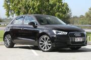 2015 Audi A1 8X MY15 Sportback S tronic Brilliant Black 7 Speed Sports Automatic Dual Clutch Springwood Logan Area Preview