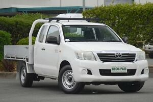 2011 Toyota Hilux GGN15R MY10 SR Xtra Cab White 5 Speed Automatic Utility Acacia Ridge Brisbane South West Preview
