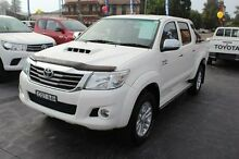 2013 Toyota Hilux KUN26R MY14 SR5 (4x4) White 5 Speed Automatic Dual Cab Pick-up South Maitland Maitland Area Preview