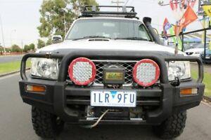 2009 Nissan Patrol GU 6 MY08 ST White 4 Speed Automatic Wagon