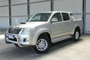 2012 Toyota Hilux KUN26R MY12 SR5 Double Cab Silver 4 Speed Automatic Utility Invermay Launceston Area Preview