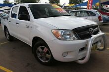 2005 Toyota Hilux TGN16R Workmate White 5 Speed Manual Dual Cab Pick-up Minchinbury Blacktown Area Preview