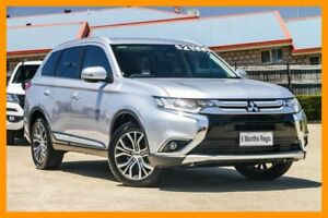 2015 Mitsubishi Outlander ZK MY16 XLS 4WD Silver 6 Speed Sports Automatic Wagon Hillcrest Logan Area Preview