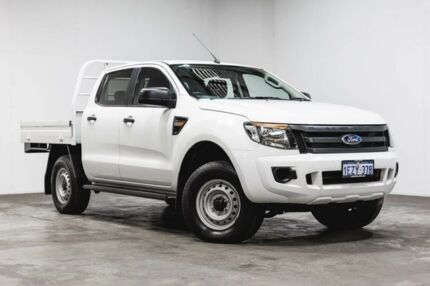 2012 Ford Ranger PX XL Double Cab 4x2 Hi-Rider White 6 Speed Sports Automatic Cab Chassis Welshpool Canning Area Preview