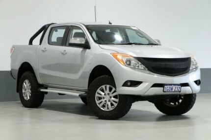 2014 Mazda BT-50 MY13 XTR (4x4) Silver 6 Speed Automatic Dual Cab Utility Bentley Canning Area Preview
