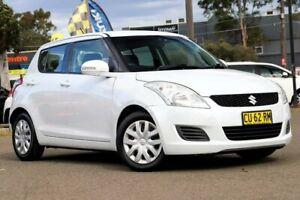 2011 Suzuki Swift FZ GL White 4 Speed Automatic Hatchback Condell Park Bankstown Area Preview