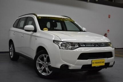 2013 Mitsubishi Outlander ZJ MY14 ES 4WD White 6 Speed Constant Variable Wagon Brooklyn Brimbank Area Preview