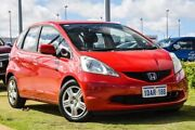 2009 Honda Jazz GE MY09 GLi Red 5 Speed Automatic Hatchback Pearsall Wanneroo Area Preview
