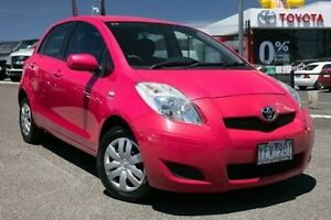 2011 Toyota Yaris NCP90R MY11 YR Pink 4 Speed Automatic Hatchback Keysborough Greater Dandenong Preview