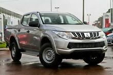2015 Mitsubishi Triton MQ MY16 GLX Double Cab Silver 6 Speed Manual Utility Devonport Devonport Area Preview