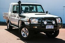 2013 Toyota Landcruiser VDJ79R MY13 GXL Double Cab White 5 Speed Manual Cab Chassis Wangara Wanneroo Area Preview