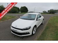 VOLKSWAGEN SCIROCCO 2.0 TDI,2011,BLUEMOTION,Only 45,000mls,White2 Lady Owners,Full History,Bluetooth