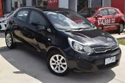 2012 Kia Rio UB MY12 S Black 4 Speed Sports Automatic Hatchback Hoppers Crossing Wyndham Area Preview