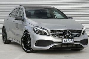 2015 Mercedes-Benz A180 176 MY15 BE Silver 7 Speed Sports Automatic Dual Clutch Hatchback Ringwood East Maroondah Area Preview