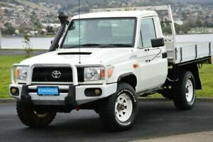 2011 Toyota Landcruiser VDJ79R MY10 Workmate White 5 Speed Manual Cab Chassis Derwent Park Glenorchy Area Preview