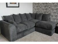 BRAND NEW DYLAN JUMBO CORD CORNER OR 3+2 SEATER SOFA SET AVAILABLE IN STOCK