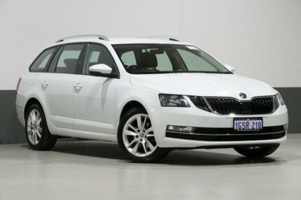 2017 Skoda Octavia NE MY18 110 TSI Moon White 7 Speed Auto Direct Shift Wagon Bentley Canning Area Preview