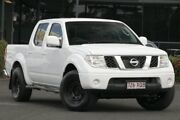 2011 Nissan Navara D40 ST White 6 Speed Manual Utility Slacks Creek Logan Area Preview