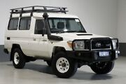 2014 Toyota Landcruiser VDJ78R MY12 Update Workmate (4x4) 11 Seat White 5 Speed Manual TroopCarrier Bentley Canning Area Preview