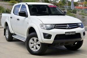 2013 Mitsubishi Triton MN MY13 GLX (4x4) White 5 Speed Manual 4x4 Double Cab Utility Lisarow Gosford Area Preview