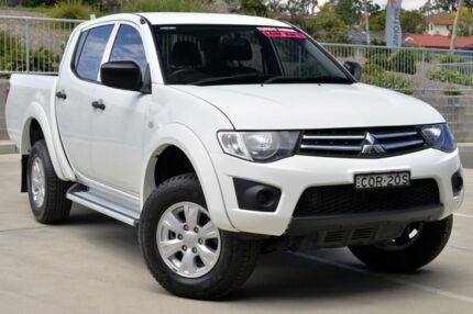 2013 Mitsubishi Triton MN MY13 GLX (4x4) White 5 Speed Manual 4x4 Double Cab Utility Lisarow Gosford Area Preview
