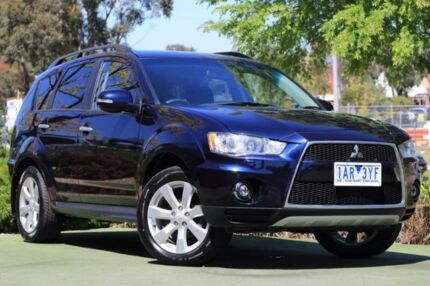 2010 Mitsubishi Outlander ZH MY11 XLS Blue 6 Speed Constant Variable Wagon