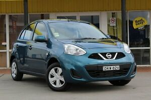 2016 Nissan Micra K13 Series 4 MY15 ST Miami Blue 4 Speed Automatic Hatchback Telarah Maitland Area Preview
