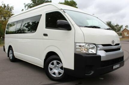 2017 Toyota Hiace KDH223R Commuter High Roof Super LWB White 4 Speed Automatic Bus East Maitland Maitland Area Preview