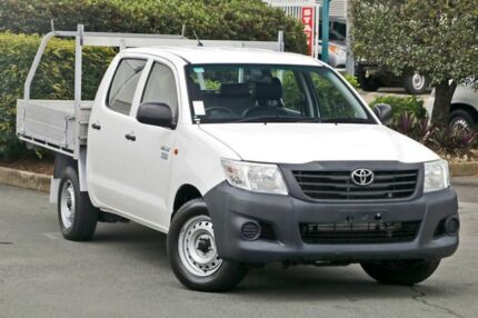 2013 Toyota Hilux TGN16R MY14 Workmate Double Cab White 4 Speed Automatic Utility