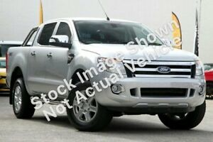 2014 Ford Ranger PX XLT Double Cab Silver, Chrome 6 Speed Sports Automatic Utility Clarkson Wanneroo Area Preview