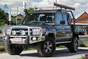 2014 Toyota Landcruiser VDJ79R MY13 GXL Double Cab Grey 5 Speed Manual Cab Chassis Kedron Brisbane North East Preview