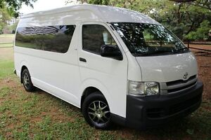 2010 Toyota Hiace KDH223R MY10 Commuter High Roof Super LWB White Solid 4 Speed Automatic Bus The Gardens Darwin City Preview