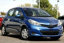 2012 Toyota Yaris NCP130R YR Caribbean Blue 5 Speed Manual Hatchback Adelaide CBD Adelaide City Preview
