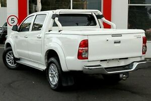 2015 Toyota Hilux KUN26R MY14 SR5 Double Cab White 5 Speed Automatic Utility Upper Ferntree Gully Knox Area Preview