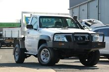2011 Nissan Patrol GU 6 Series II DX White 5 Speed Manual Cab Chassis Kippa-ring Redcliffe Area Preview