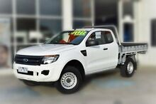 2011 Ford Ranger PX XL Super Cab 4x2 Hi-Rider White 6 Speed Sports Automatic Cab Chassis Berwick Casey Area Preview
