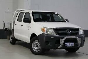 2008 Toyota Hilux TGN16R 08 Upgrade Workmate White 5 Speed Manual Dual Cab Pick-up Bentley Canning Area Preview
