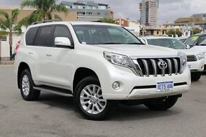 2015 Toyota Landcruiser Prado KDJ150R MY14 VX Crystal Pearl 5 Speed Sports Automatic Wagon Northbridge Perth City Area Preview