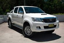 2015 Toyota Hilux KUN26R MY14 SR5 Double Cab White 5 Speed Automatic Utility Meadowbank Ryde Area Preview